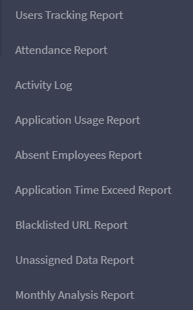 DeskTrack's Available Reports for Employees